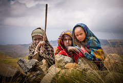 Shepherd Boys (liesbet_sanders) Tags: ethiopia northernethiopia simienmountains travel people portrait boys three kids faces harsh altitude outdoors shepherd daytime mountains children