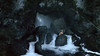 (laura zalenga) Tags: landscape water cave rocks mountains waterfall girl woman small human being sitting beautiful scenery scenic nature ©laurazalenga blue sunlight beam ray tiny massive