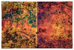 the truth of two suns (kazimierz.pietruszewski) Tags: abstract abstraction form composition digipaint digitalart concept graphic colorful diptych 21 border tachism