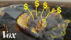 Why do taxpayers pay billions for football stadiums? (Xtrenz) Tags: arena attstadium billions chargers coliseum dome eagles expensivestadium explain fedexfield football fordfield georgiadome lasvegasraiders losangelesrams lucasoilstadium mercedesbenzstadium metlife newstadium nfl patriots pay profootball rcadome rogergoodell sandiego stlouisrams stadium stadiums superbowl taxpayers usbankstadium vox voxcom