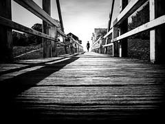 wooden bridge (frank_hb) Tags: bw black blackandwhite blackwhite northsea nordsee tönning street streetphotography silhouette schatten