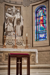 Cyril and Methodius ahdr (Greg Riekens) Tags: religion religious usa stpaulcathedral cathedral catholic nikond500 statue architecture stpaul midwest nikkor stainedglass minnesota