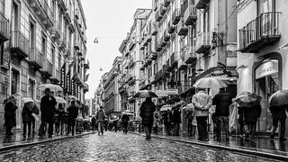 passeggio sotto la pioggia
