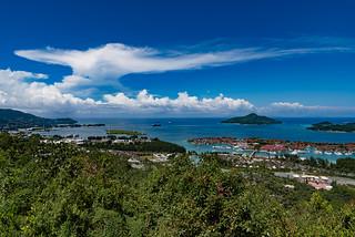 La Misere view point of Victoria, Seychelles