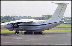 UR-76777 - Oostende Bruges (OST) 13.05.2001 (Jakob_DK) Tags: il76 il76md ilyushin ilyushinil76 il76candid ilyushin76 ilyushin76md ilyushinil76md cargo ebos ost ostend–brugesinternationalairport ostendairport internationaleluchthavenoostendebrugge tii atiairlines aircompanyati 2001 ur76777