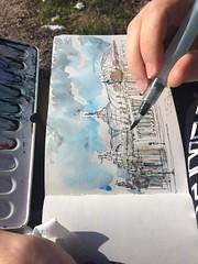 Paris_sketching the Grand-Palais sunday afternoon (velt.mathieu) Tags: sketch croquis paris watercolor