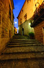 Top of the stairs in Barcelona, Spain (` Toshio ') Tags: toshio barcelona spain pobleespanyol spanish spanisharchitecture europe european europeanunion steps building history fujixe2 xe2