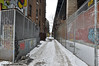 The Exploration Of Strange Spaces (Trish Mayo) Tags: snow winter fence road lowereastside