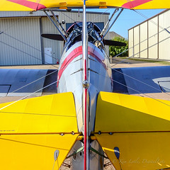 flight lines (DigitalLyte) Tags: stearman pt17 biplane squareformat aircraft airplane westhoustonairport houston tx texas n61268