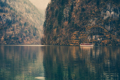 Royal Reflections - 17/365 (der_peste (on/off)) Tags: lake königssee bayern bavaria boat schiff berge moutains see reflections water spiegelung berchtesgadenerland natur bäume trees nature sonya7ii sel70200gm