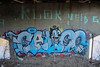 Calico, Klok (NJphotograffer) Tags: graffiti graff new jersey nj bridge calico