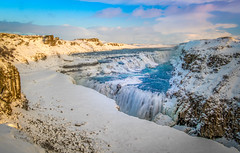 Gullfoss (Bryan-Wilk22) Tags: 2018 waterfall gullfoss landscape winter 7d water outdoor canon snow iceland january camera sky frozen clouds ice