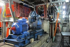 Kings Cross Esc 7&9 15-12-04 (01) (Funny Cyclist) Tags: kings cross escalator shaft camden london tube underground train zug ubahn untergrund subway machine greasesteel concrete gearbox chain