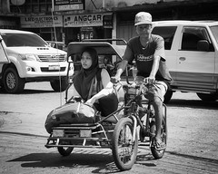 Done Shopping (Beegee49) Tags: pedicab passenger muslim filipina rider public transport bacolod city philippines