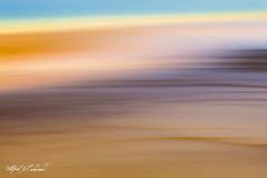 Subtle Transitions_27A0628 (Alfred J. Lockwood Photography) Tags: alfredjlockwood nature abstract grandprismatic geothermalpool geothermalrunoff microbialmat midwaygeyserbasin yellowstonenationalpark color shapes patterns texture summer morning wyoming blur