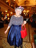 "I Always Wanted To Find Someplace Where I Could ""Dress Up"" And Not Feel Out Of Place (Laurette Victoria) Tags: hotel lobby milwaukee dress hat purse necklace woman laurette pfisterhotel"