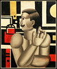 """Le mécanicien"" 1918 Fernand Léger, Exposition Fernand Léger (1881-1955) ""Beauty is Everywhere"" ""La Beauté est partout"", Bozar, Bruxelles, Belgium (claude lina) Tags: claudelina belgium belgique belgïe bruxelles brussel exposition peinture painting fernandléger bozar palaisdesbeauxartsdebruxelles labeautéestpartout beautyiseverywhere lemécanicien"