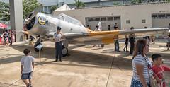 North American Aviation T-6 Texan - Royal Thai Air Force 2244 (Gösta Knochenhauer) Tags: 2018 january panasonic lumix fz1000 dmcfz1000 bangkok thai thailand royal air force aircraft plane museum p9130601nik p9130601 nik childrens day north american aviation t6 texan 2244