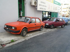 1988 Skoda 105 & 1992 Skoda Favorit (Alpus) Tags: greece athens rare cars october 2016 classic retro