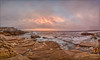Sky playing drama queen 3 (JustAddVignette) Tags: australia clouds cloudysunrise firstlight fisherman flamingsky landscapes mahonpool maroubra newsouthwales ocean panorama photographer rocks seascape seawater sky southeasternsuburbs splashspray sydney water waves