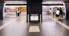 Subway Station (CoolMcFlash) Tags: vienna subway station citylife city urban architecture people train exposure wien ubahn zug stadt personen fotografie photography streetphotography candid canon eos 60d sigma 1020 35