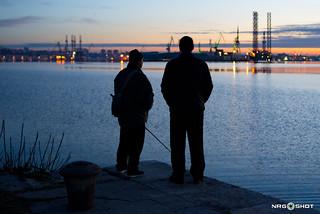 i 2 pescatori al tramonto
