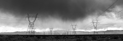 0246937601-96-High Power Lines on Stormy Mojave Desert-3-Black and White (Jim There's things half in shadow and in light) Tags: america canon5dmarkiv eldoradocanyon macrophotography mojavedesert nevada places southwest tamronsp1530mmf28divcusd tamronsp90mmf28dimacro11vcusd usa clouds cloudy desert landscape powerlines rain stormy