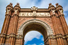 Arc de Triomf de Barcelona (rossendgricasas) Tags: international landmark famous place column arch building exterior steeple architecture town square bell tower historical palace steps barcelona catalonia street photography lightroom sky clouds