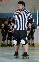 IMG_8100 crop 1 (KORfan) Tags: rollerderby barbedwirebetties cabinfeverscrimmage referees officials