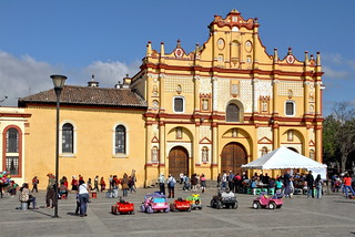 A beautiful facade and cute little cars . . .