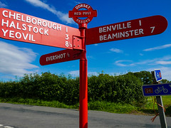 Dorset signposts.