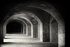 Fort Point (cb|dg photo) Tags: ggnra blackandwhite hallway fort brick presidio sanfrancisco fortpoint
