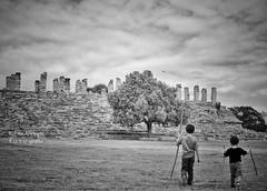 A walk (Mister Blur) Tags: monochrome monday awalk ancient archeological site ruins aké mayan ruinas arqueológicas blackandwhite blancoynegro bw theboys walking yucatán méxico nikon d7100 35mm f50 rubén rodrigo fotografía