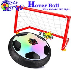 Dreampark Kids Toys Hover Ball with Goal Set, Air Power Soccer Gate Disk Set Equipped with LED Lights, Training Football Sports Toys for Boys Girls Indoor Outdoor Activities or Team Games (saidkam29) Tags: activities ball boys disk dreampark equipped football games gate girls goal hover indoor kids lights outdoor power soccer sports team toys training