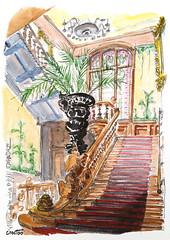 Villa Lumière, Lyon (Croctoo) Tags: croctoo croctoofr croquis aquarelle watercolor escaliers ville lumiere lyon villalumiere
