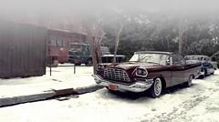 Warehouse Snow (gpholtz) Tags: diorama miniatures 118 diecast 1957 chrysler 300c