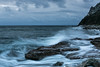 Blue atmosphere ( fabienne fauré) Tags: bleu blue sea nuage presquîledecrozon crozon 5d markiii canon 2470mm 29 poselongue rocher bretagne finistère pointedepenhir penhir britain penarbed