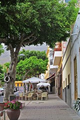 cafe on the street :) (green_lover) Tags: street adeje tenerife canaryislands spain town cafe buildings trees travels