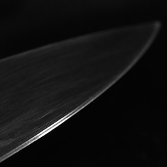 Culinary Precision (andymudrak) Tags: macro blade edge steel knife photography 365 bw squareformat
