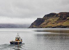15 - Going to Work from Portree Harbour (Donnie Canning) Tags: wwwdonniephotographycouk donnie donniecanning olympus microfourthirds photography photo photographer lens canning em1 1240mm pro 2018 scotland highlands january portree harbour skye isleofskye outerhebrides sky skyline cloud sun outdoor landscape land ground foreground nature naturalworld view vista boats