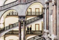 Conspiracy (*Capture the Moment*) Tags: 2017 architecture architektur fotowalk häuserwohnungen innenarchitektur interior interiordesign munich münchen sonya6300 sonyfe1635mmf4zaoss sonyilce6300 staircase stairs treppen treppenhaus