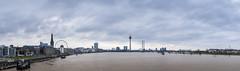 Rhine flooding Düsseldorf - huge 57M Pixel Panorama - zoom in! (stefanfricke) Tags: rhein rhine panorama düsseldorf sony ilce7rm2 sel1635z skyline