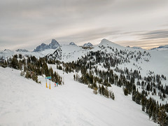 skiing Grand Targhee (maryannenelson) Tags: wyoming grandtarghee ski snowboard landscape winter clouds sky mountains pines tetons skiers