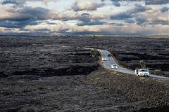 Chain Of Craters Road Crossing Mauna Ulu Flows (wyojones) Tags: hawaii hawaiivolcanoesnationalpark chainofcratersroad basaltflow lavaflow road highway blocked buried maunaulu eruption wyojones np