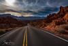 Valley of Fire (svpe4711) Tags: rock usa d750 landscape cloudy himmel wolkig nevada clouds bluesky sun blue mounten travel street blau valleyoffire red lasvegas nature vallay wolken blauerhimmel