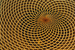 Spiraling Out of Control (Eclectic Jack) Tags: geometric macro pattern orange gold