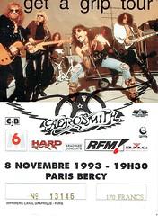Aerosmith - Lundi 8 Novembre 1993 - POP Bercy (Paris) (hube.marc) Tags: aerosmith lundi 8 novembre 1993 pop bercy paris concert spectacle metal rock hard