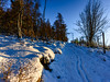 """Pink Floyd""-2 (grahamrobb888) Tags: snow d800 nikon nikond800 nikkor nikkor20mmf18 perspective perthshire pathway bluesky blue cokin"