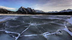 Meh (Len Langevin) Tags: alberta canada rockies ice abrahamlake frozen winter mountain landscape scenery scenic nikon d7100 tokina 1116 wideangle