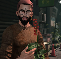 Le pot de fleur (♛ Baronne ♛) Tags: secondlife avatar monsieur man guy dude boy homme themensdept gizseorn themenjail purfect beard poil barbe berber mad tattoo tatouage beanie xenials sorgo glasses lelutka soy shadow fr french sl 3d shijima look fashion style lookoftheday pullover knotted brown beau sourire smile mandala ears picture photograph mademoiselle signature gianni ethnic